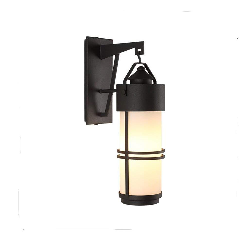 TJTJ レトロな屋外の壁ライト防水庭ライト単純なガラス壁ライト壁ランプ B07R6CKNXY