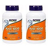 Now Foods Neptune Krill 1000 Fish Oil 1000 Milligram, 60 Softgels (2 Pack) For Sale