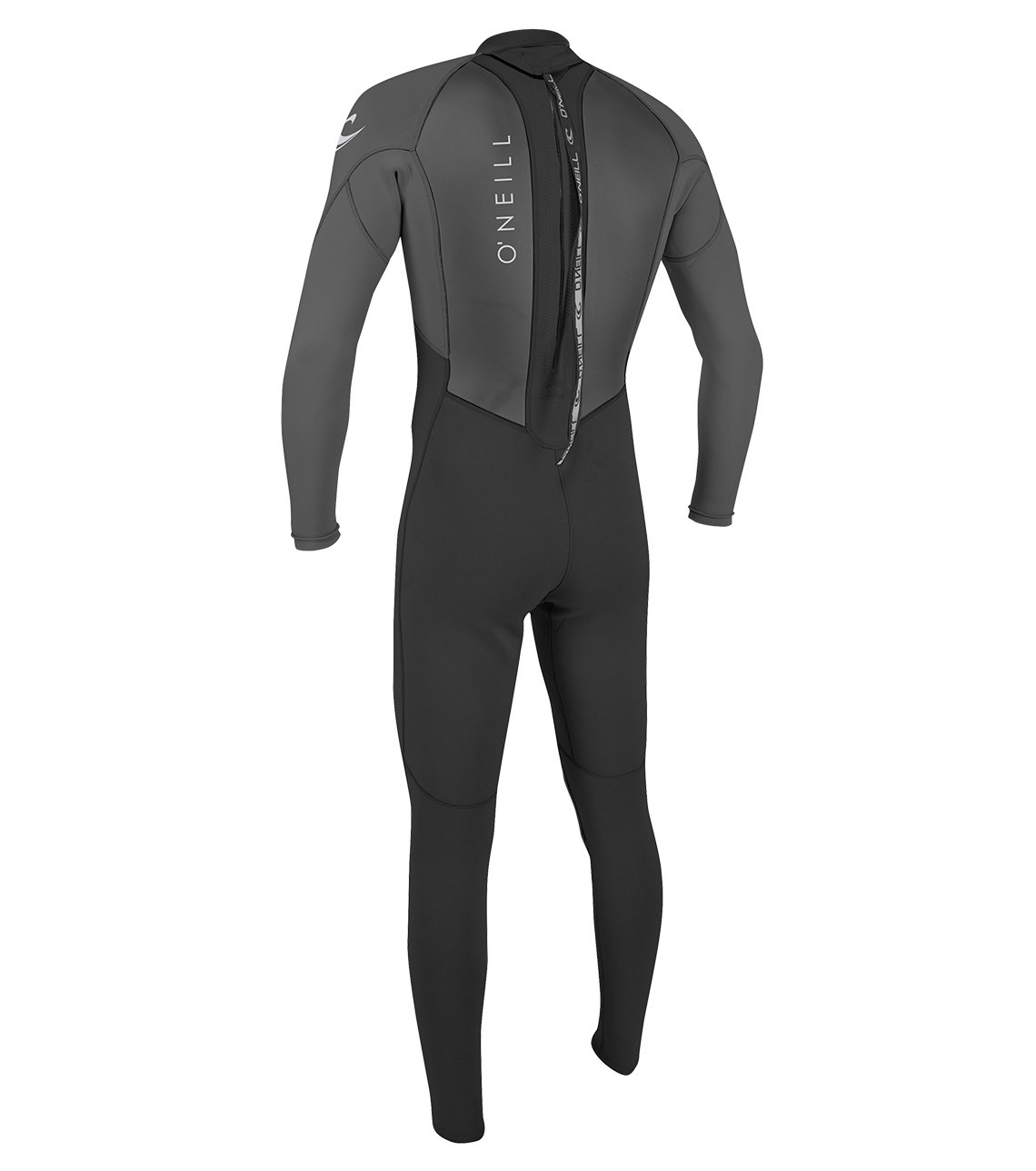 O'Neill Men's Reactor II 3/2mm Back Zip Full Wetsuit, Black/Graphite, Medium by O'Neill Wetsuits (Image #2)