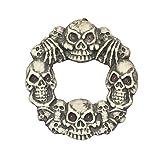 DII Decorative Light Up Skulls 15'' Haunted Wreath for Front Door or Indoor Wall Décor to Celebrate Halloween