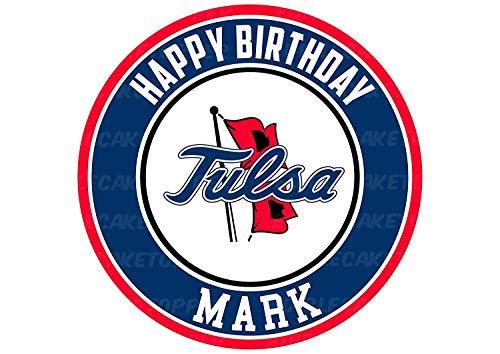 Tulsa Golden Hurricane Edible Cake Topper Personalized Birthday 8