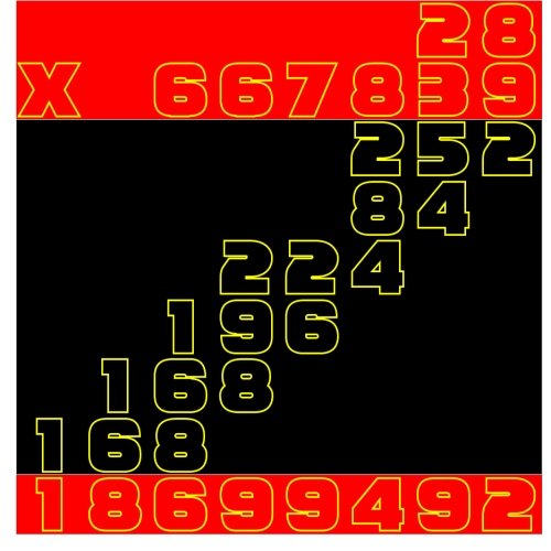 Download Color Multiplication: 28 x 667839 to 37 x 572654 (Homeschool Workbook) (Volume 22) PDF