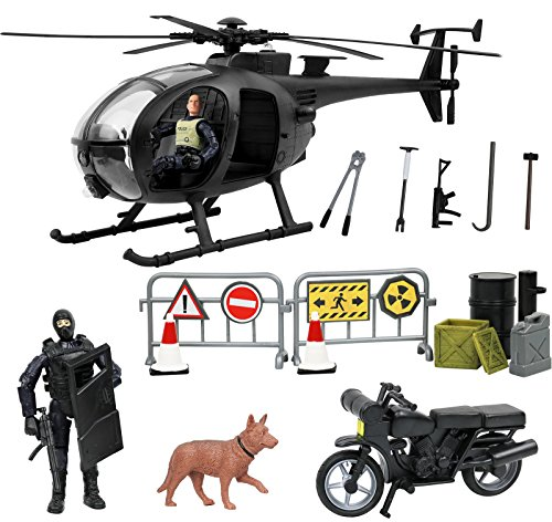 Click N' Play Military SWAT Elite Unit Rescue Helicopter 26 Piece Play Set with Accessories. ()