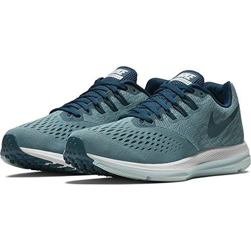 NIKE Womens Air Zoom Winflo 4 Running Shoe Blue