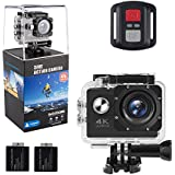 ALOFOX 4K Action Camera 16MP WiFi Waterproof Sports Camera 170 Degree Ultra Wide-Angle Len with Angle Sensor, 2.4G Remote, 30M Waterproof Case, 2 Pcs Rechargeable Batteries and Portable Package