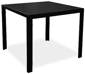KMH &apos, cuadrada negro imitación de madera de mesa Tuco ...
