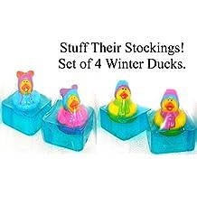 Kid's Bath Time Favorites Winter Ducks,Set of 4, The Salt Baron Ocean Scent Soap