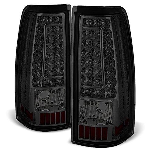 (For 2003-2006 Chevy Silverado 2004-2006 GMC Sierra Pickup Truck Smoke G2 LED Tail Lights Brake Lamps Replacement)