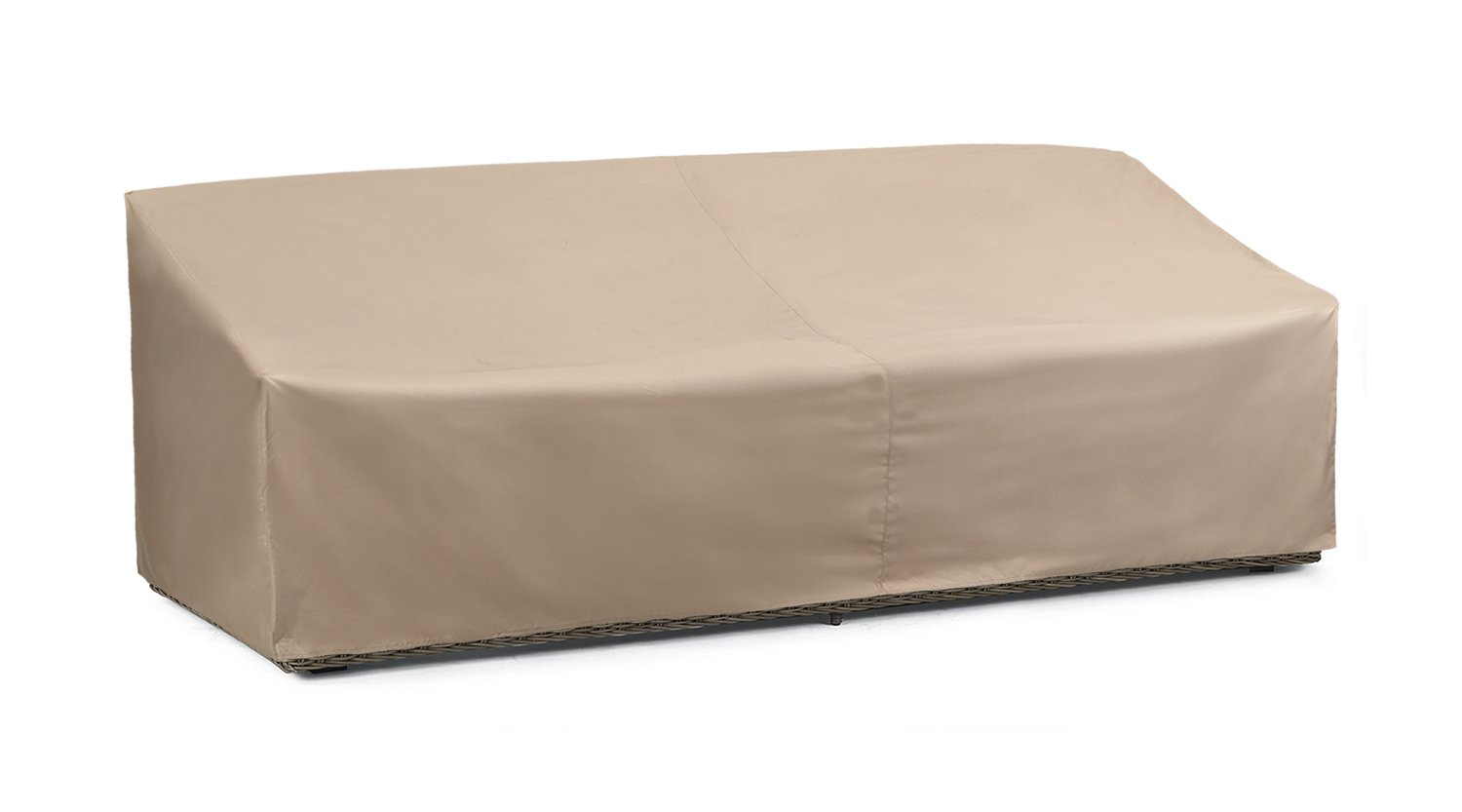 SunPatio Outdoor Oversized Sofa Cover, Lightweight, Water Resistant, Eco-Friendly, Helpful Air Vents, All Weather Protection, Beige, 93.5'' L x 45'' W x 39'' H