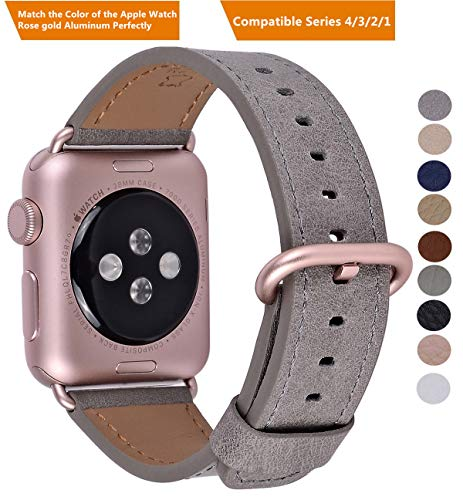 f08edc398eff1 Compatible Iwatch Band 38mm 40mm - PEAK ZHANG Women Genuine Leather  Replacement Strap with Rose Gold