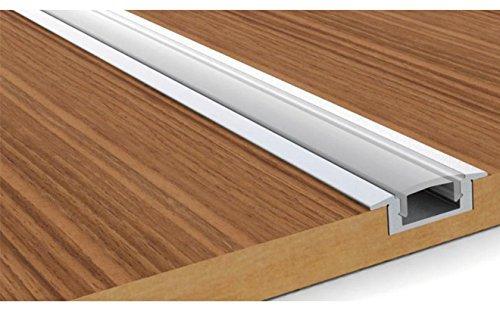 Aluminum Channel - LED Aluminum Extrusion 4101-100 U-shape for Flex/hard LED Strip Light White/milk Cover by Outline (Image #2)