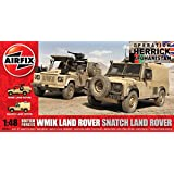 Hornby Airfix A06301 British Forces Land Rover Twin Pack Model Building Kit, 1:48 Scale