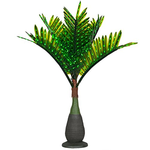 Outdoor Lighted Palm Tree With Coconuts - 4