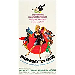 Modesty Blaise (1968) Original Three Sheet Movie Poster (41x81) Folded Fine Condition. MONICA VITTI Directed by JOSEPH LOSEY SPY MOVIE
