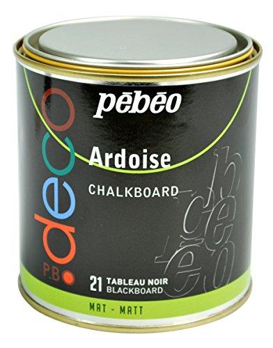 Pebeo 93521 Tafelfarbe Metalldose, 500 ml, schwarz