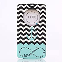 LG G3 Case, GOODTONY [Quick Circle Window] [Slim Fit] Premium [Cartoon Cute Printing] PU Leather Ultra Slim Flip Smart Cover for LG G3 (smile face) (Anchor)