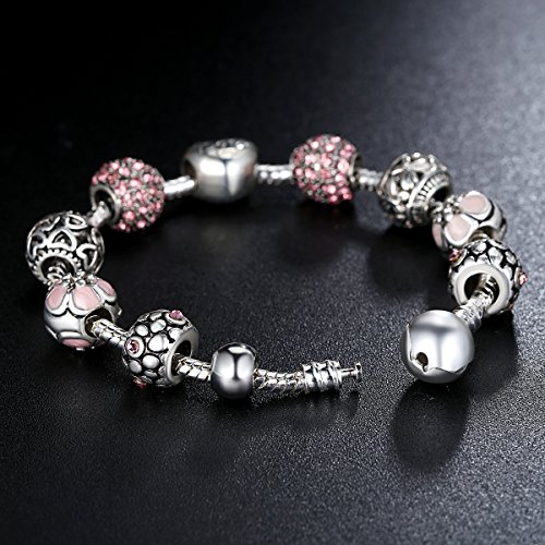 Amazon.com Presentski Fashion Charm Bracelet for Teen Girls and Women with Love Themed Amor Cupid Charms 7.1 Inches Jewelry