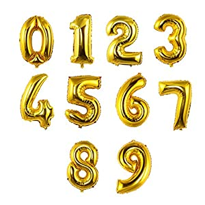 """Edxtech Romantic 32"""" Big Numbers Wedding Balloon Birthday Party Decor Holiday Supplies"""