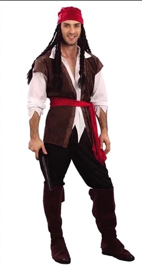 Disfraz de hombre al Capitán Jack Sparrow pirata del Caribe para ...