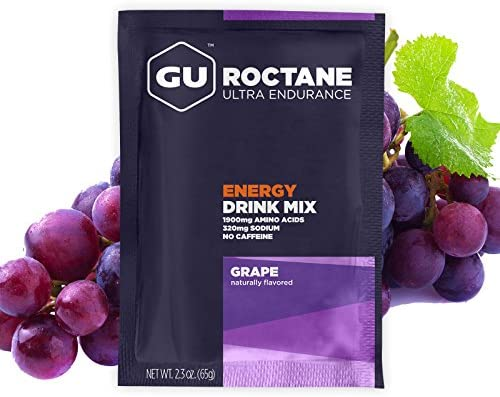 GU Energy Roctane Ultra Endurance Energy Drink Mix, 10 Single-Serving Packets, Grape