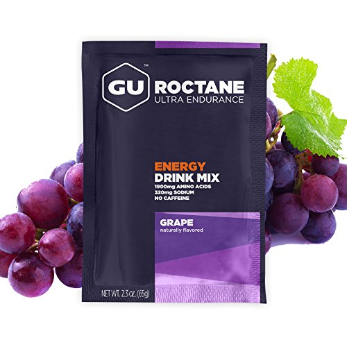 GU Energy Roctane Ultra Endurance Energy Drink Mix, Grape, 10-Count Packets