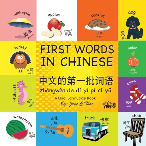 (First Words in Chinese: (Bilingual English and Mandarin Chinese books for kids) Dual language Edition (book 1) (Volume 1))