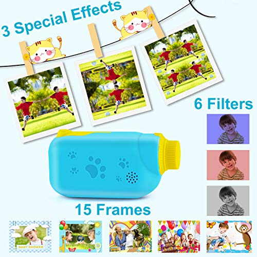 AILEHO Kids Camera for Boys Digital Video Camera for Kids Birthday Children Toys 3 4 5 6 7 8 9 Years Old Toddler Camera 8M 1080P with 8GB Card Game Camera Rechargeable IPS 2.4\