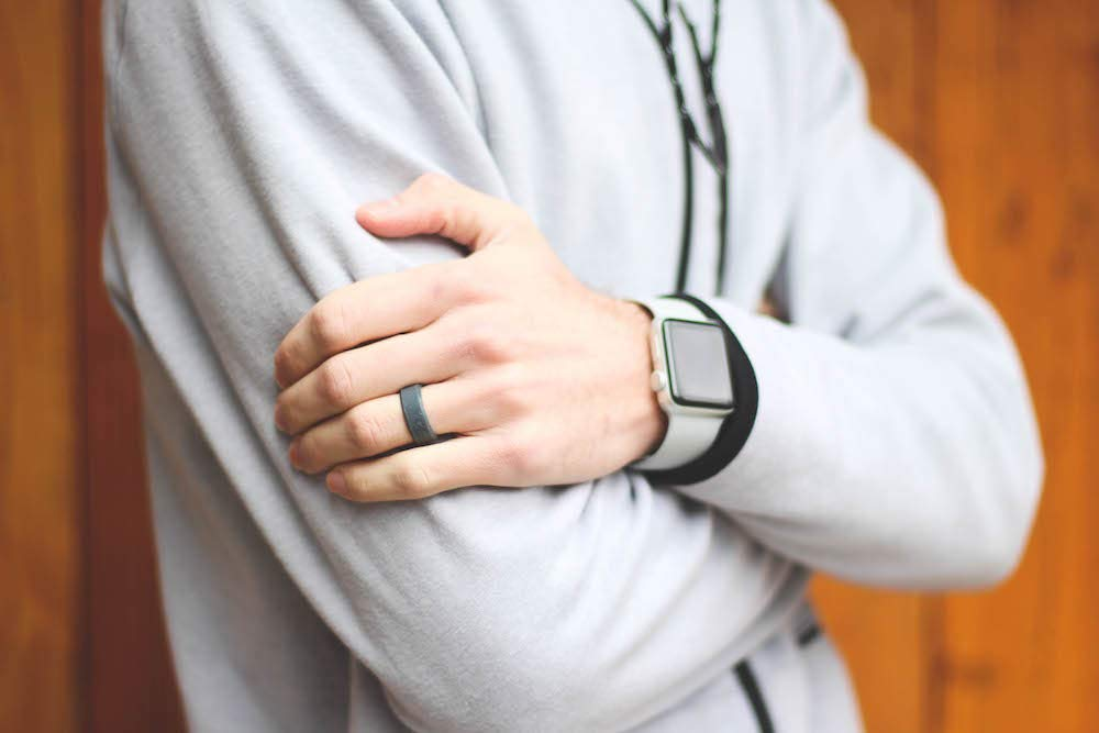 Enso Rings Bevel Silicone Ring Breathable Comfortable and Safe Lifetime Quality Guarantee
