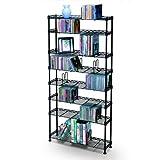 8-Shelf CD/DVD Rack Multimedia Storage Unit