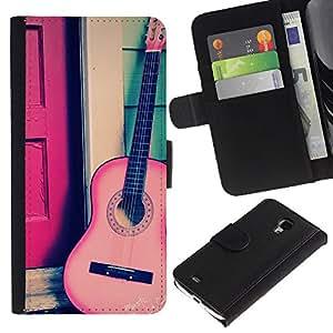 For Samsung Galaxy S4 Mini i9190 MINI VERSION!,S-type® Play Classical Travel Free Music Instrument - Dibujo PU billetera de cuero Funda Case Caso de la piel de la bolsa protectora