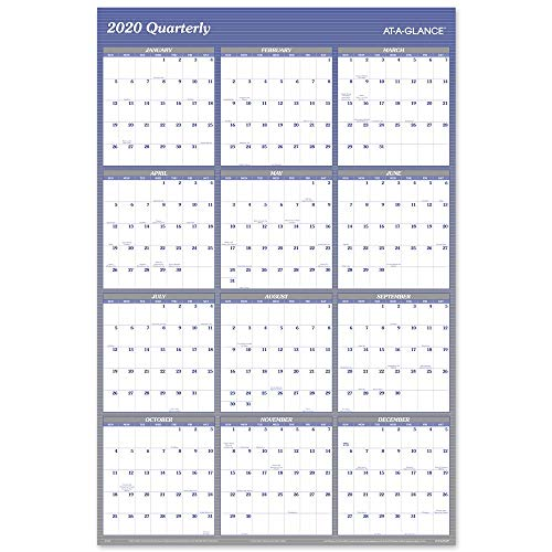 AT-A-GLANCE 2020 Yearly Wall Calendar, 48