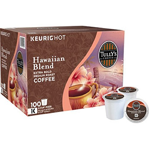 Tully's Coffee Hawaiian Blend K-Cup for Keurig Brewers (Pack of 100)