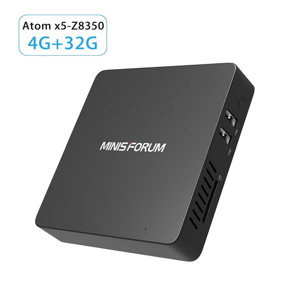 Fanless Windows 10 Pro Mini PC Desktop Computer Intel Atom x5-Z8350 Processor RAM 4GB and eMMC 32GB 1000M LAN 2.4/5.8G WiFi BT 4.0 with HDMI Output