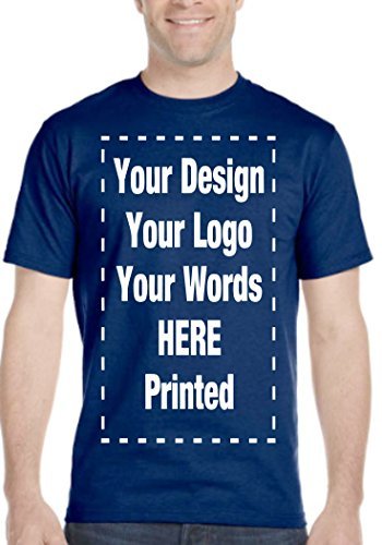 (Custom T-Shirt. Personalized Tee. Add Your Own.Personalized Message. Customize (S, Navy) )
