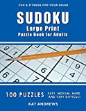 SUDOKU Large Print Puzzle Book For Adults: 100