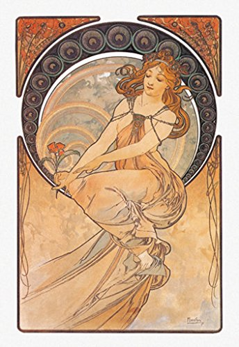 BuyEnlarge 0-587-00288-3-DC-24x16_032017 Painting The Arts by Alphonse Mucha Wall Decal, 24