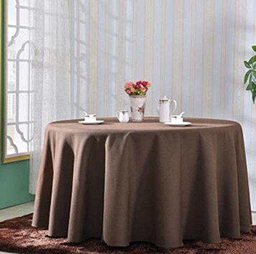 QPG Hotel Linen runde Tischdecke quadratische Tischdecke Tischdecke Kaffee Tischdecke Abdeckung Tuch reine Farbe Elegance Retro Verdickung undurchsichtig ( Farbe   A2 , größe   380cm ) A6 260cm