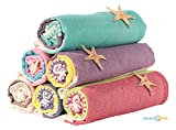 Sale Set of 6 XL Turkish Hamam Peshtemal Cotton Bath Face Towel Spa Bath USA