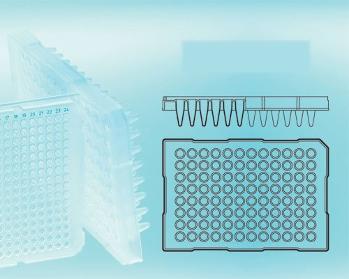 GREINER - PCR Plate- 96W- PPN- Half-Skirt- Frosted Wells for Real-Time PCR, CS100 by GREINER