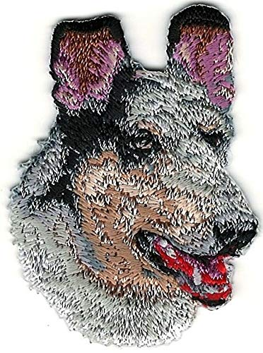 - 1 1/2'' x 2'' Collie Head Portrait Dog Breed Embroidery Patch