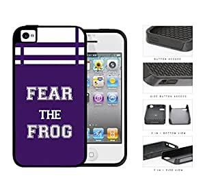 Fear The Frog School Spirit Slogan Chant iPhone 4 4s 2-piece Dual Layer High Impact Black Silicone Cover