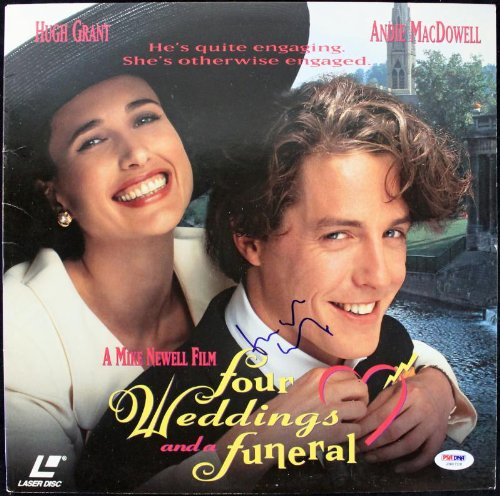 Hugh Grant Four Weddings And A Funeral Signed Laserdisc Cover PSA/DNA #J00718