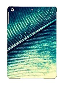 Cute High Quality Ipad Air Green Feather Case by mcsharks