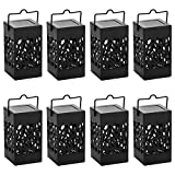 Twinkle Star 8 Pcs Hanging Solar Lantern with Handle Umbrella Solar Lantern Waterproof Solar Landscape Lantern