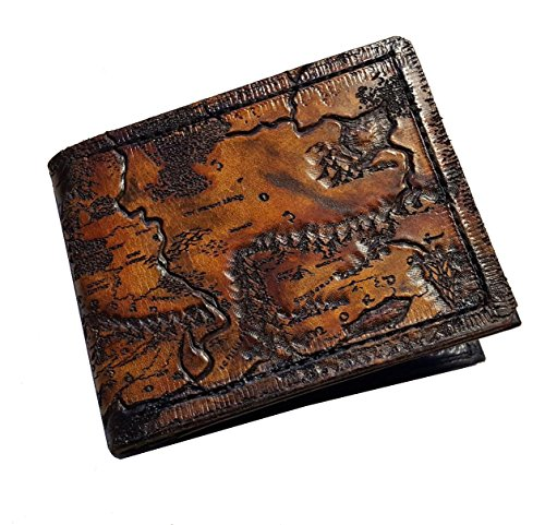 Middle Earth map leather wallet