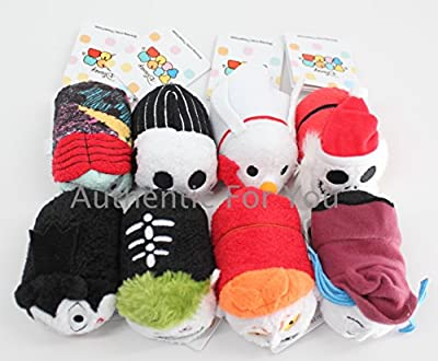 Tim Burtons The Nightmare Before Christmas Tsum Tsum Mini Plush Collection Set of 8 - 3 1/2