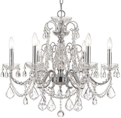 Crystorama 5024-VB-CL-MWP Crystal Accents Four Light Mini Chandeliers from Sutton collection in Bronze Darkfinish,