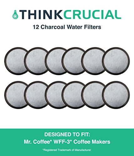 12 Mr. Coffee Charcoal Water Filters, Fits WFF-3 Coffeemakers, Compare to Part # 113035-001-000, Designed & Engineered by Crucial Coffee by  Crucial Coffee
