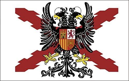 Durabol Bandera de Cruz DE BORGOÑA con Águila Bicéfala -Aguila ...