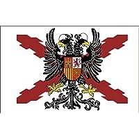 Durabol Bandera de Cruz DE BORGOÑA con Águila Bicéfala -Aguila Bicéfala Cruz de San Andrés150X90